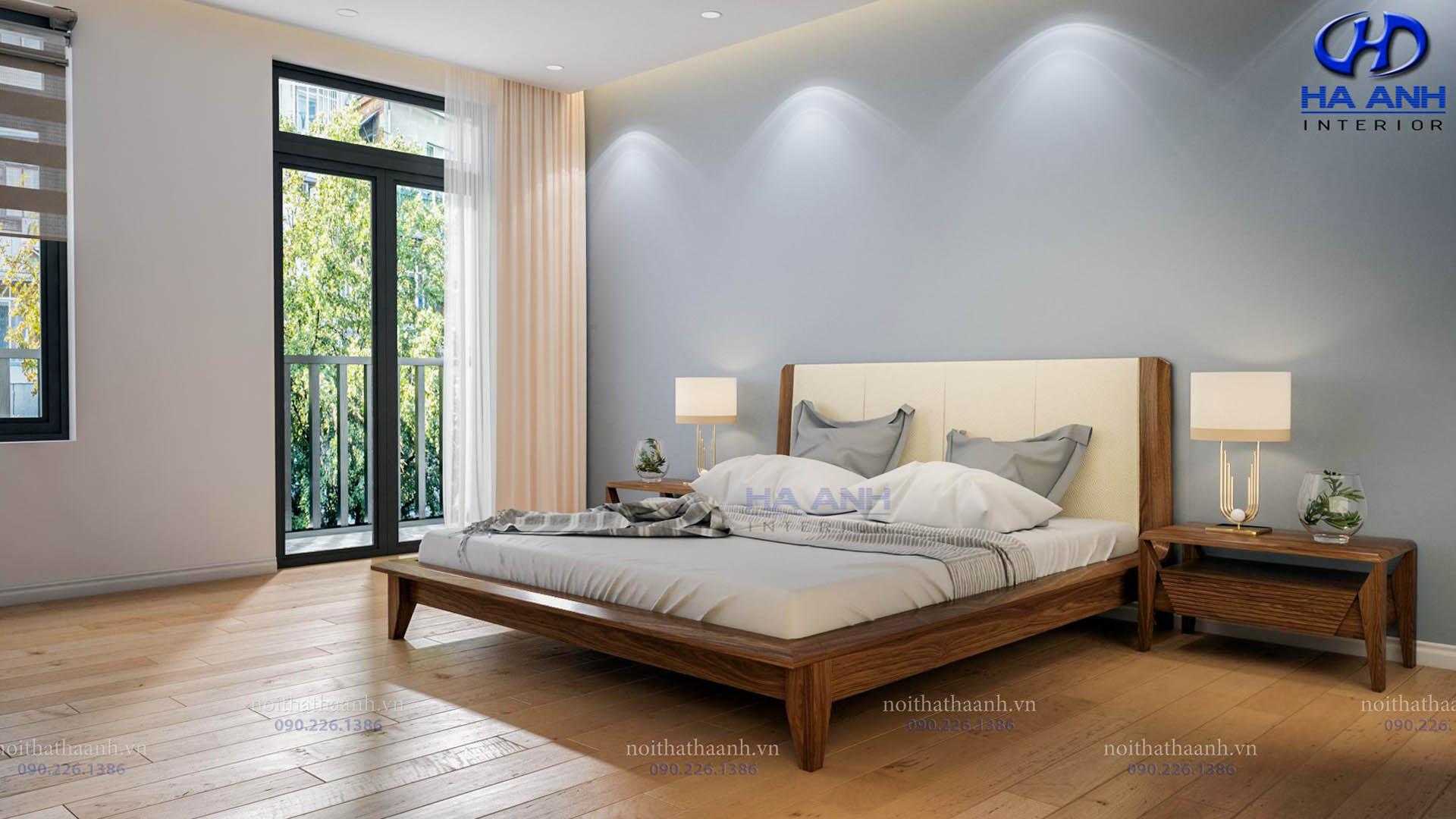 Giường ngủ gỗ Óc Chó Hà Anh HAT- 0245