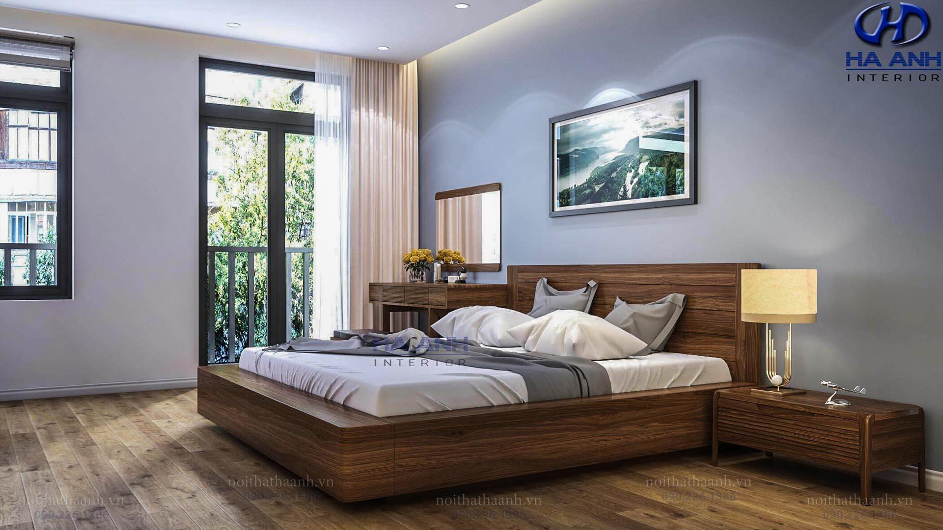 Giường ngủ gỗ Óc Chó Hà Anh HAT- 0246