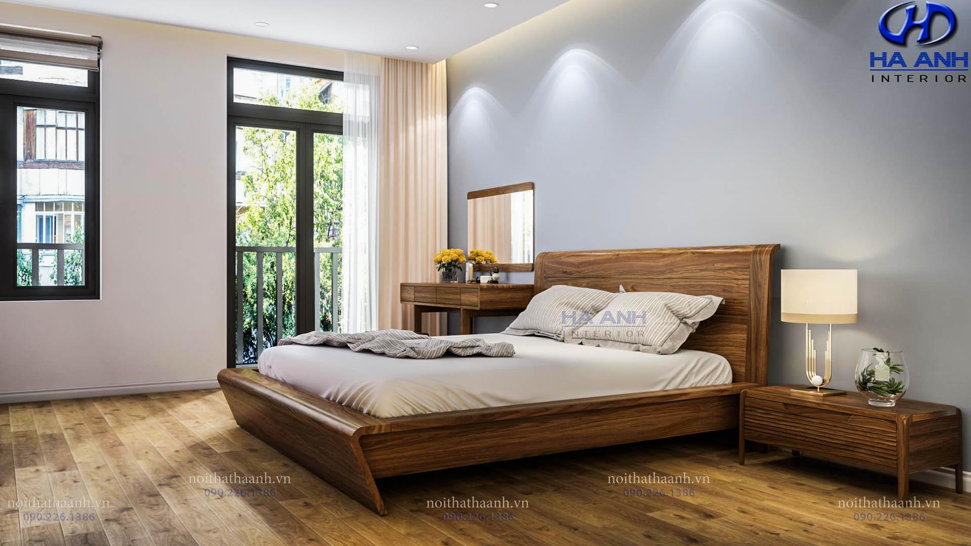 Giường ngủ gỗ Óc Chó Hà Anh HAT- 0248