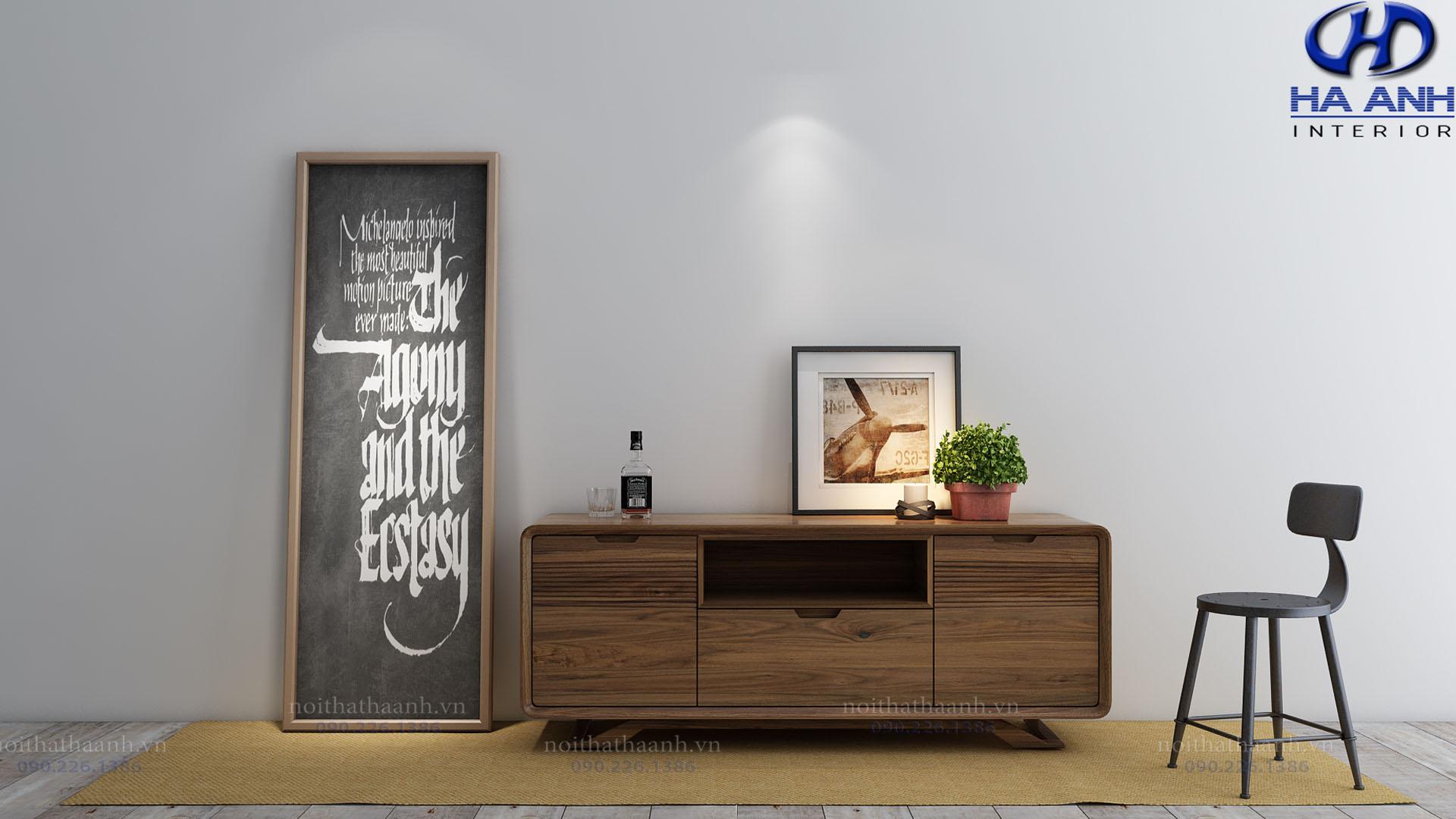 Bàn trang trí gỗ óc chó hà anh HA-50533