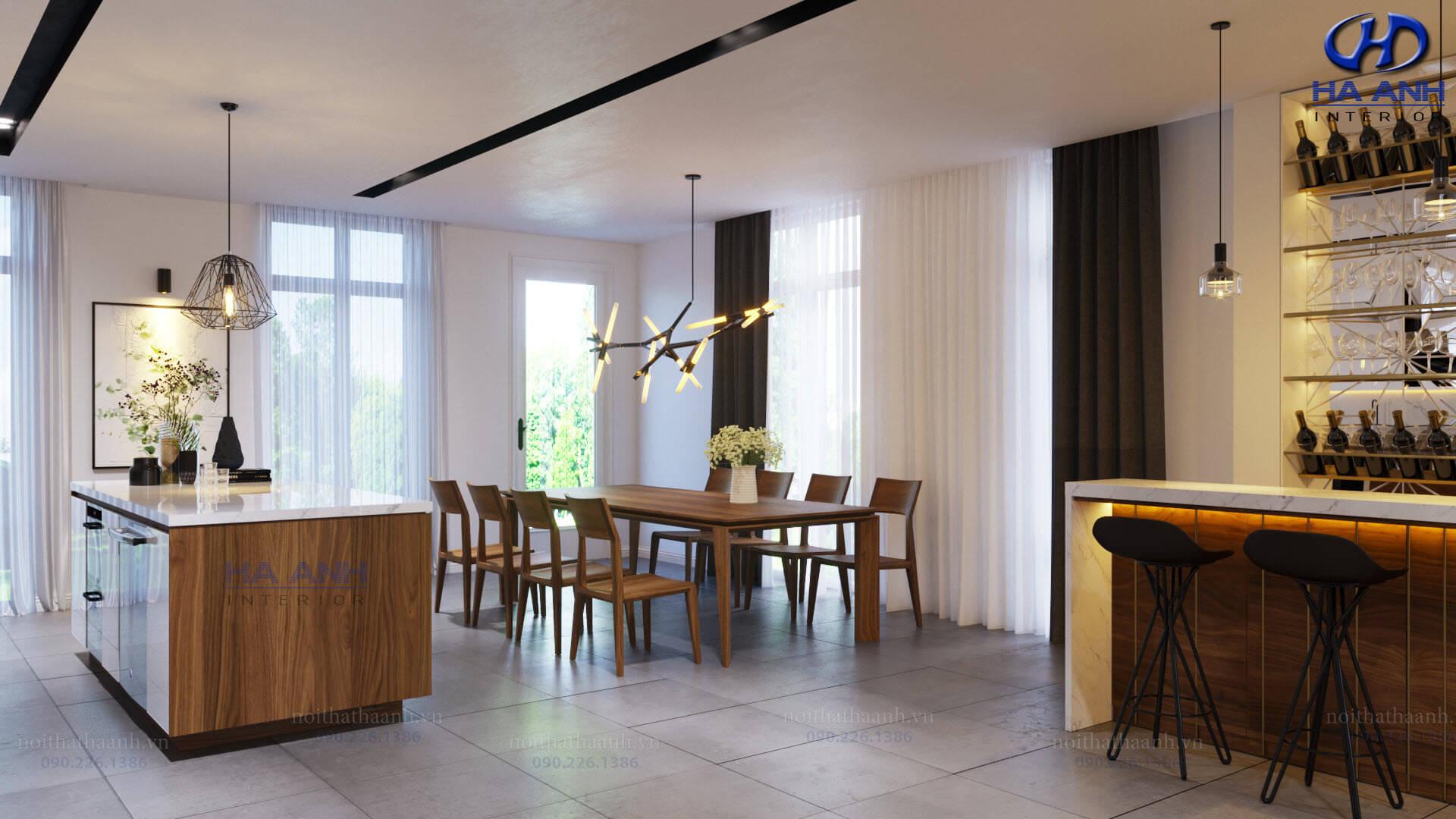 Lý do bạn nên thiết kế nội thất phòng bếp bằng gỗ óc chó?