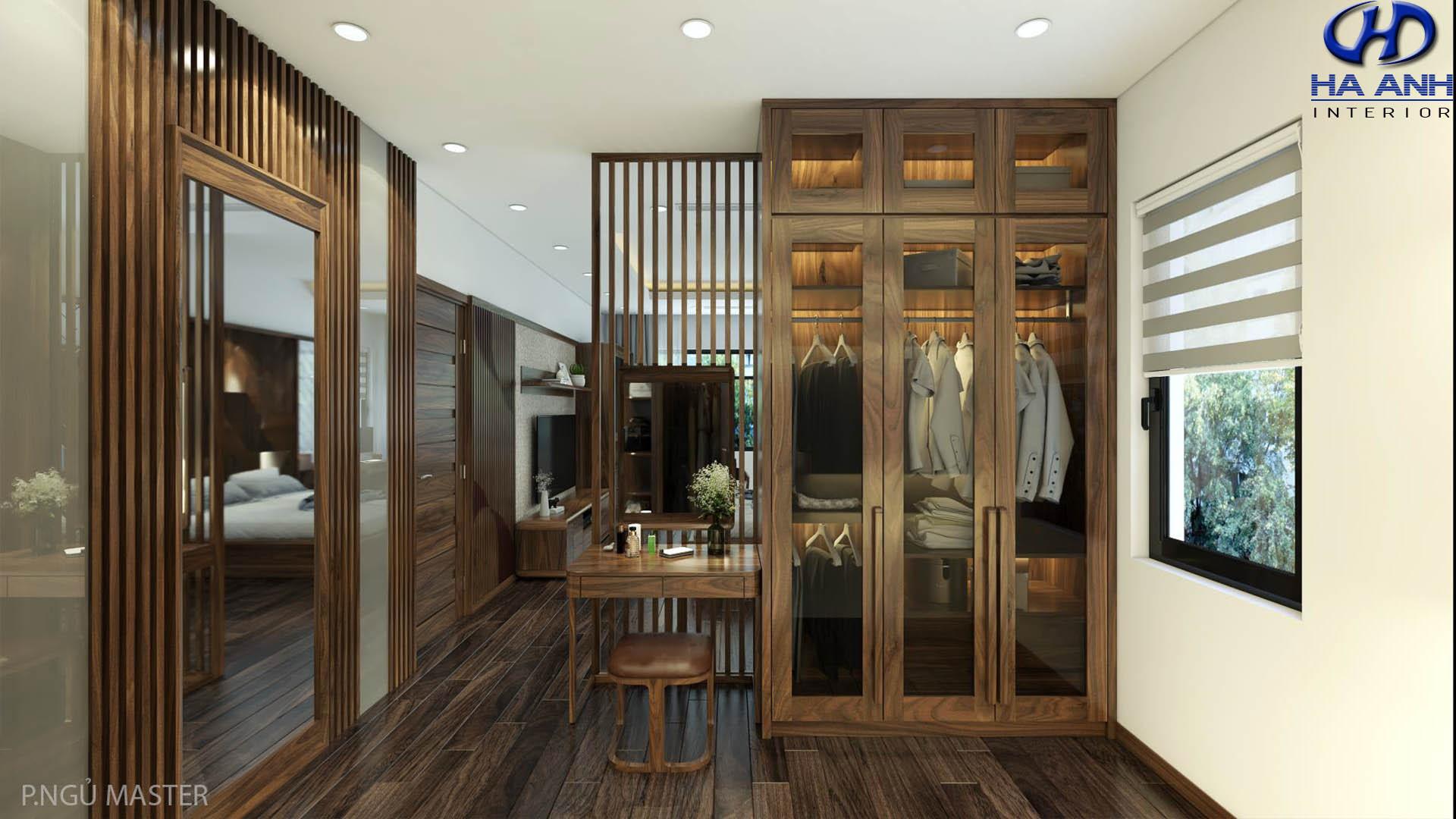 Tủ áo gỗ óc chó Hà Anh HA-50720