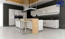 Tủ bếp gỗ công nghiệp HA-30118