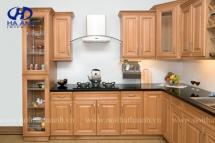 Tủ bếp gỗ tự nhiên HA-30515