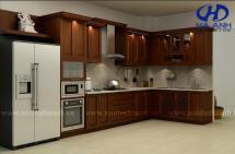 Tủ bếp gỗ tự nhiên HA-30516