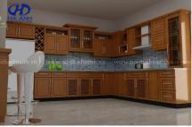Tủ bếp gỗ tự nhiên HA-30517