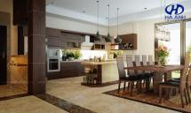 Tủ bếp gỗ tự nhiên HA-30523