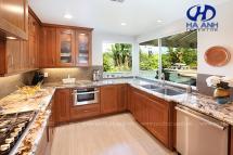 Tủ bếp gỗ tự nhiên HA-30525