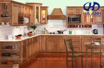 Tủ bếp gỗ tự nhiên HA-30538
