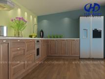 Tủ bếp gỗ tự nhiên HA-30540