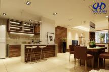 Tủ bếp gỗ tự nhiên óc chó HAV-0311
