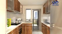 Tủ bếp gỗ tự nhiên Óc Chó HAG-0313