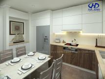 Tủ bếp laminate HA 30412