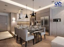 Tủ bếp laminate HA 30418