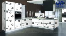 Tủ bếp laminate HA-30428