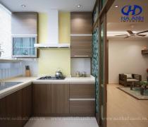 Tủ bếp veneer HA 30215