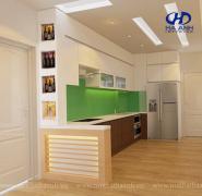 Tủ bếp veneer HA 30216