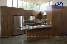 Tủ bếp veneer HA-30221