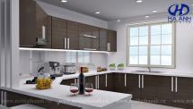 Tủ bếp veneer HA-30226