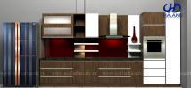 Tủ bếp veneer HA-30233