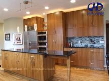 Tủ bếp veneer HA-30234
