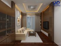 Phòng khách veneer óc chó HAV-0417