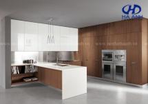 Tủ bếp veneer óc chó HAV-0314