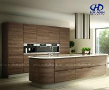 Tủ bếp veneer óc chó HAV-0318