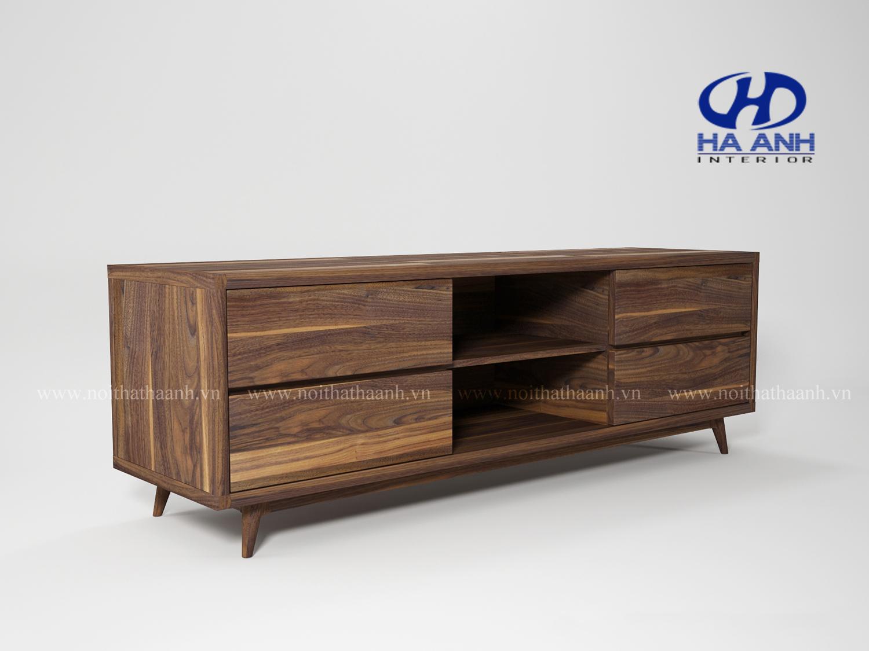 Kệ trang trí gỗ tự nhiên óc chó HA-0716