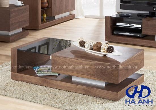Bàn trà gỗ tự nhiên óc chó HA-0511-1