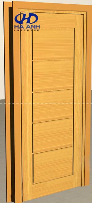 Cửa gỗ veneer HA-1011-1
