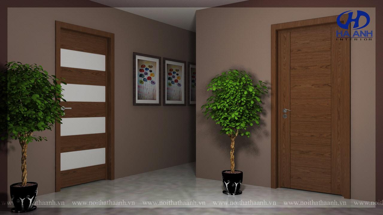 Cửa gỗ Veneer HA-1012-1