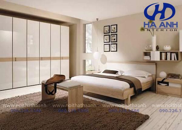 Giường ngủ laminate HA-8300