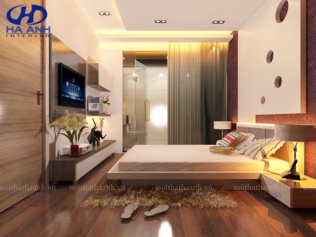 Giường ngủ laminate HA-8301