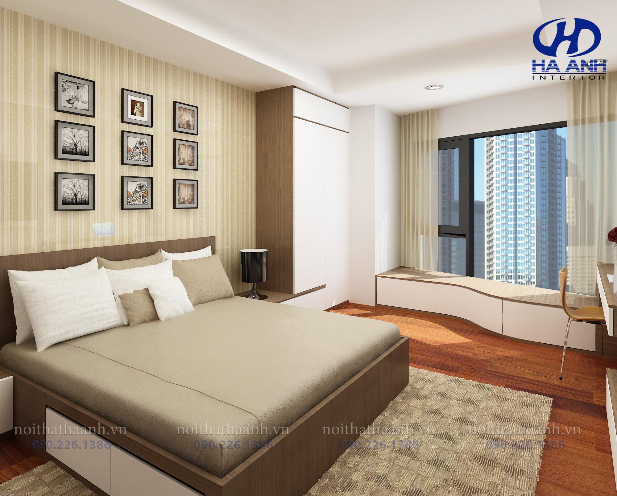 Giường ngủ laminate HA-8303