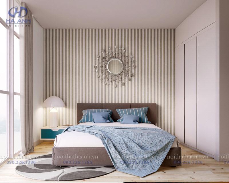 Giường ngủ laminate HA-8306