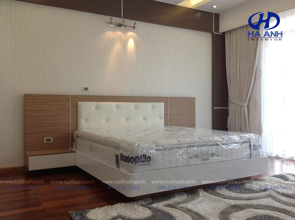 Giường ngủ laminate HA-8307
