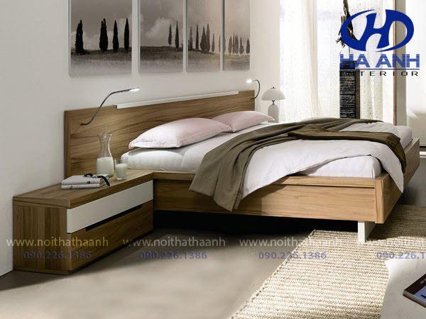 Giường ngủ laminate HA-8308