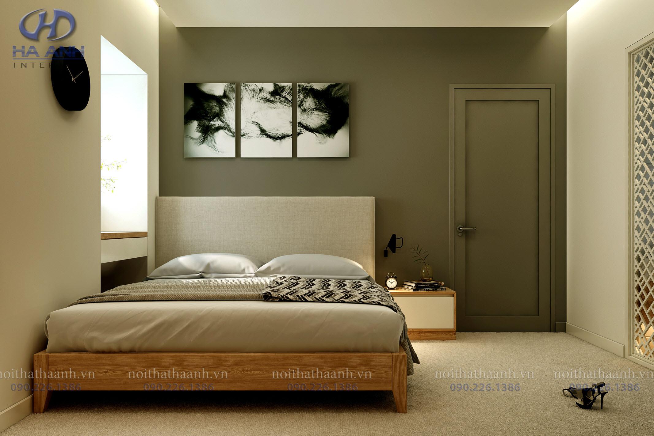 Giường ngủ laminate HA-8309