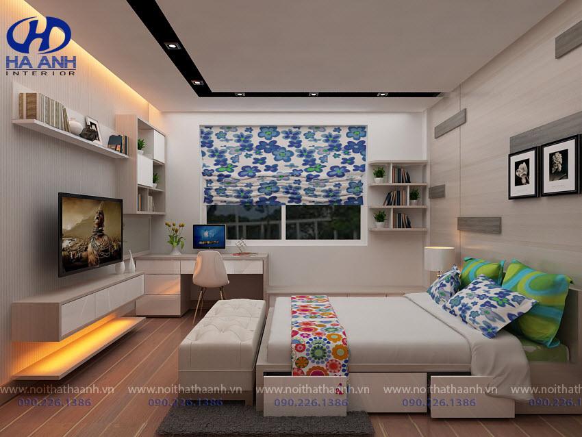 Giường ngủ laminate HA-8310