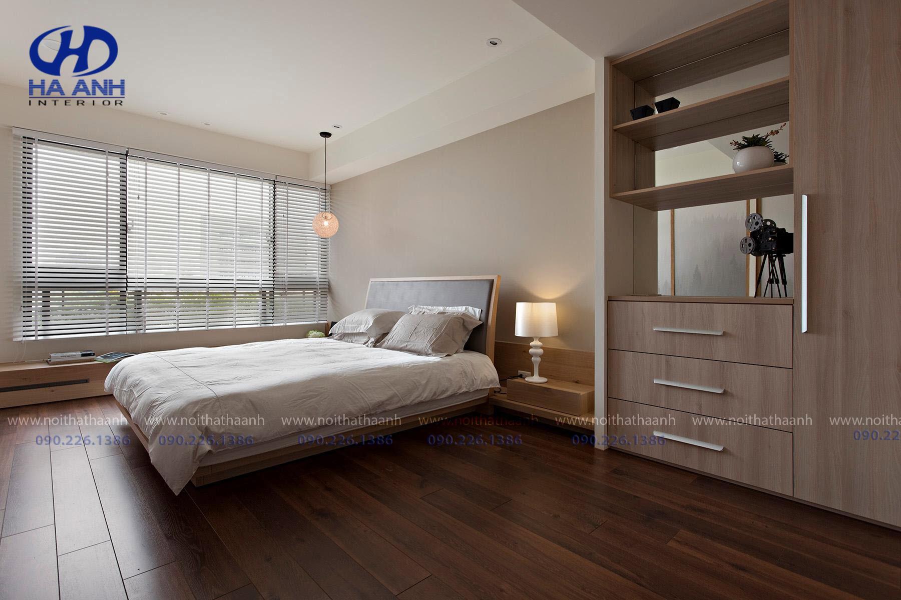 Giường ngủ laminate HA-8311