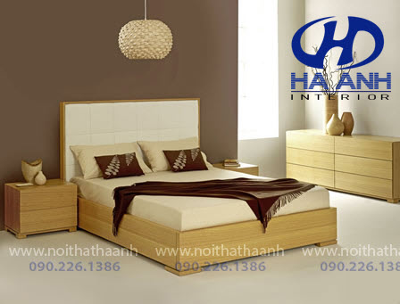 Giường ngủ laminate HA-8313