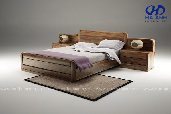 Khám phá giường ngủ gỗ óc chó với vẻ thanh lịch trang nhã