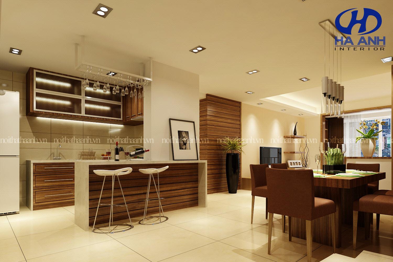 Ý tưởng thiết kế nội thất phòng bếp ấm áp cho mùa đông