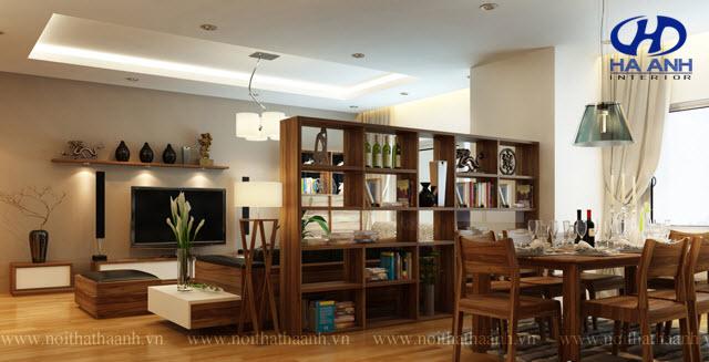 Phòng khách gỗ tự nhiên óc chó HAG-0412