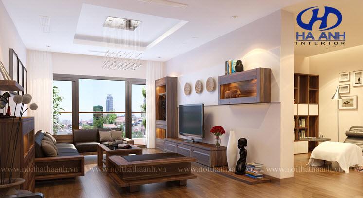 Sofa gỗ tự nhiên óc chó HAS-0415