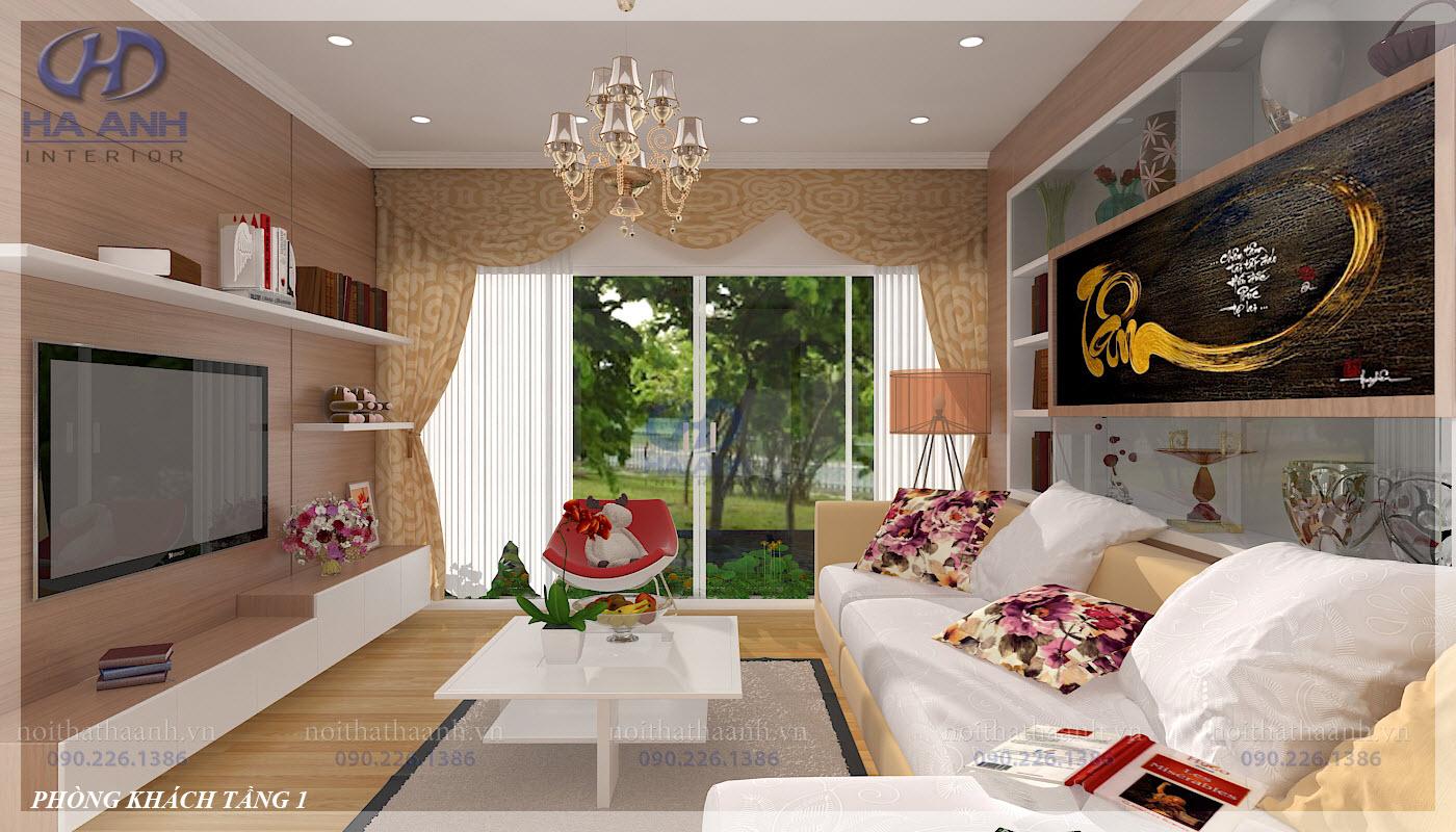 Phòng khách laminate HA-8101