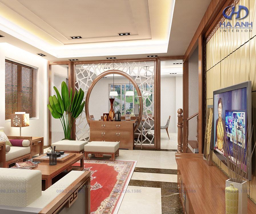 Phòng khách laminate HA-8102
