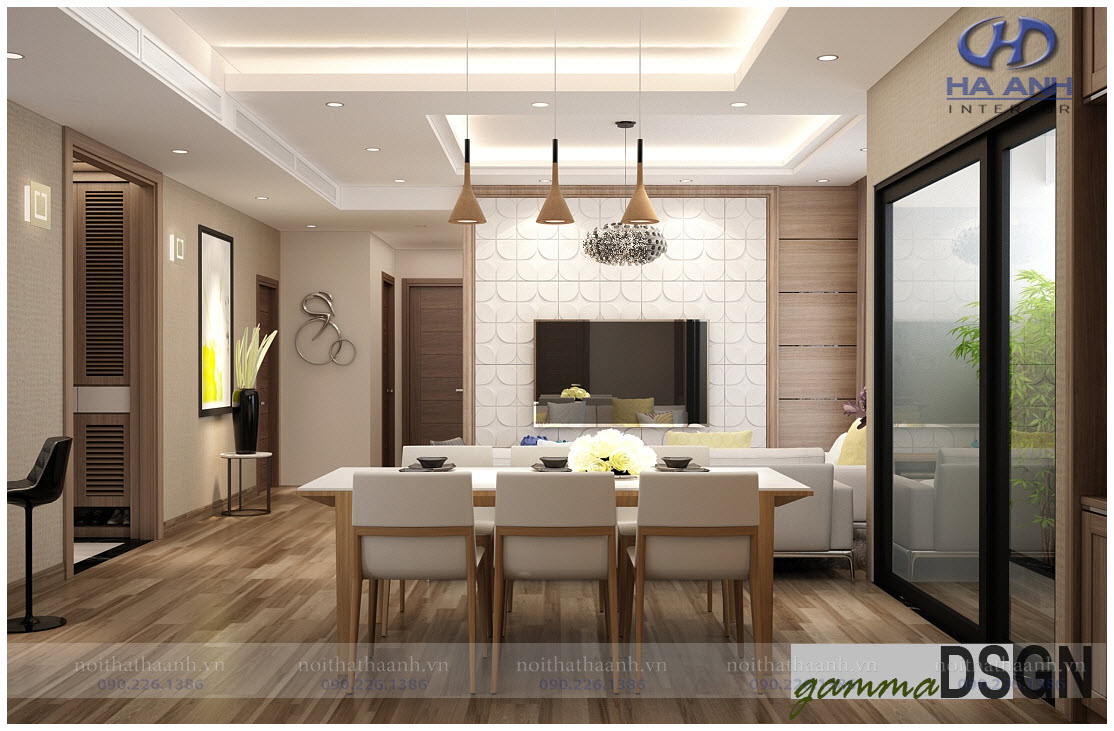 Phòng khách laminate HA-8103-2