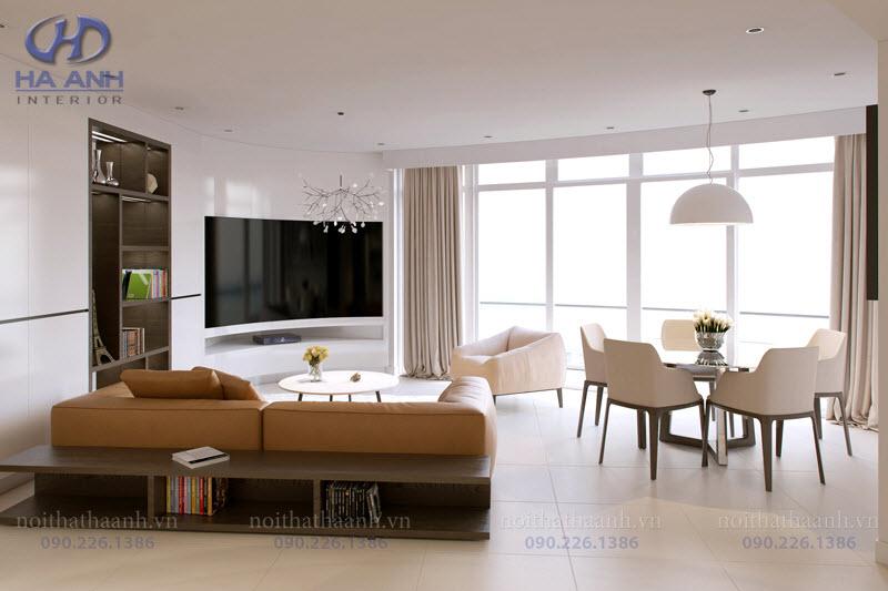 Phòng khách laminate HA-8104